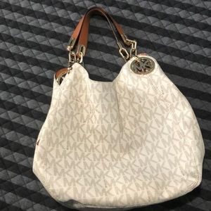 Michael Kors Vanilla Fulton Large shoulder tote